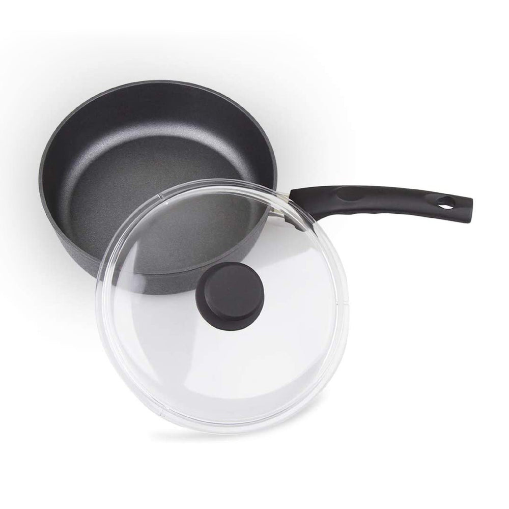 Load image into Gallery viewer, MÜNSTER Non-stick Aluminum Deep Fry Pan with Dome Lid 24 cm