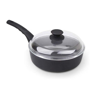 MÜNSTER Non-stick Aluminum Deep Fry Pan with Dome Lid 24 cm