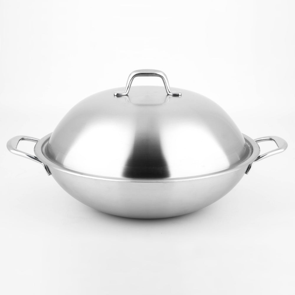 Load image into Gallery viewer, BETZENSTEIN Etching SS Wok 32 cm with SS Lid