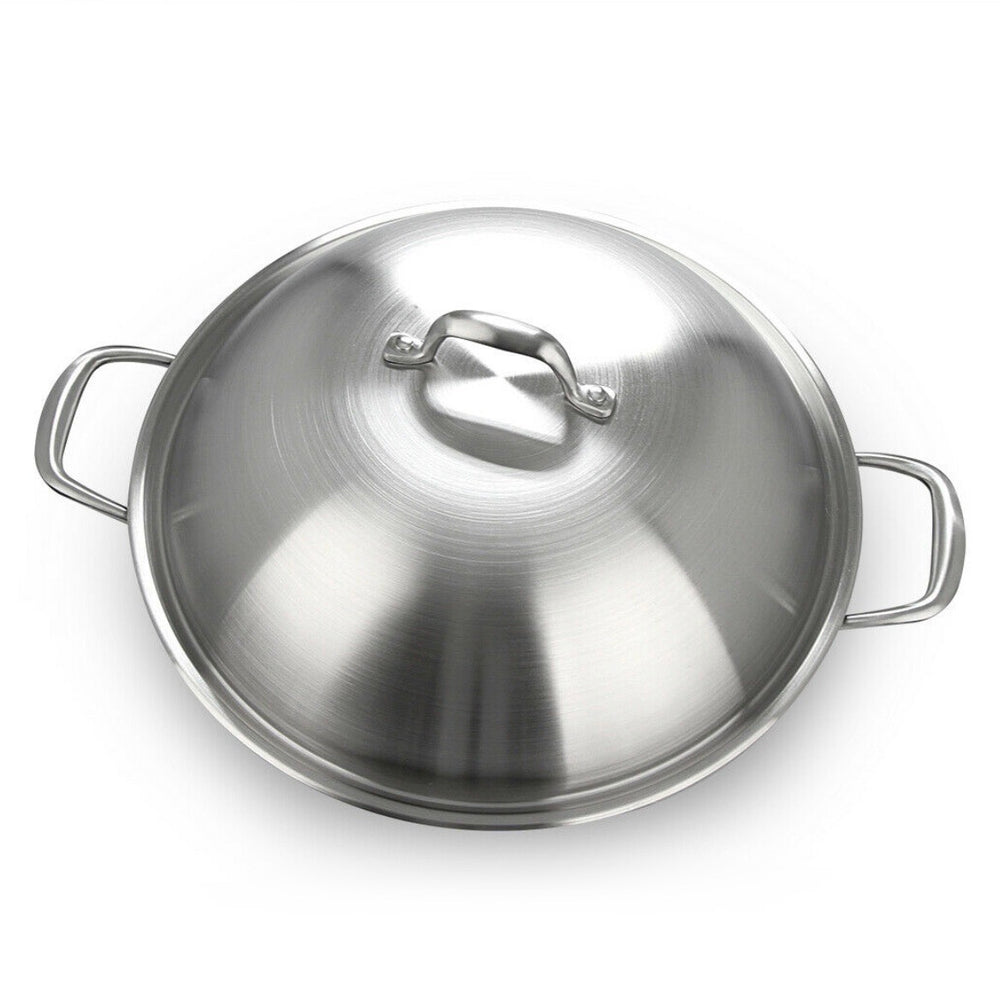 Load image into Gallery viewer, GOTHA Cast lron Wok 36 cm with SS Lid