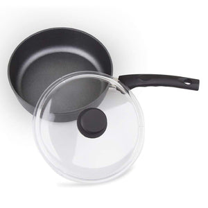 MÜNSTER Non-stick Aluminum Deep Fry Pan with Dome Lid 28 cm