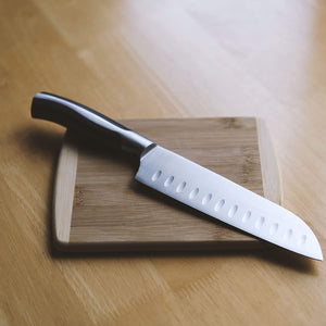 "Load image into Gallery viewer, 7"" Santoku Knife with Sheath"