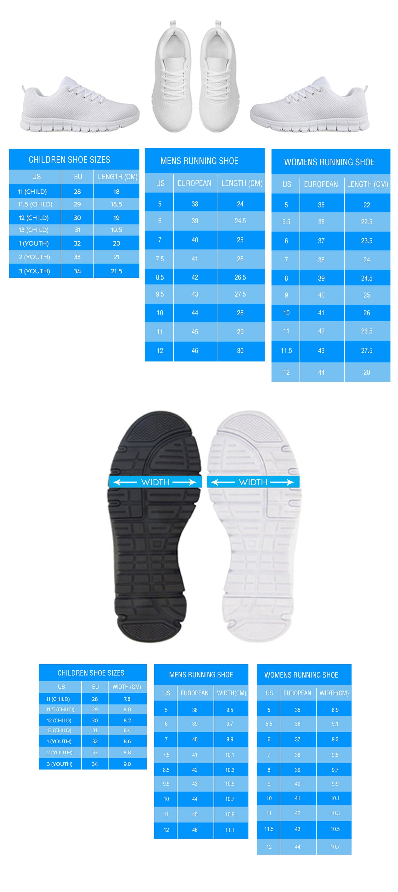 Sneaker Sizing Chart