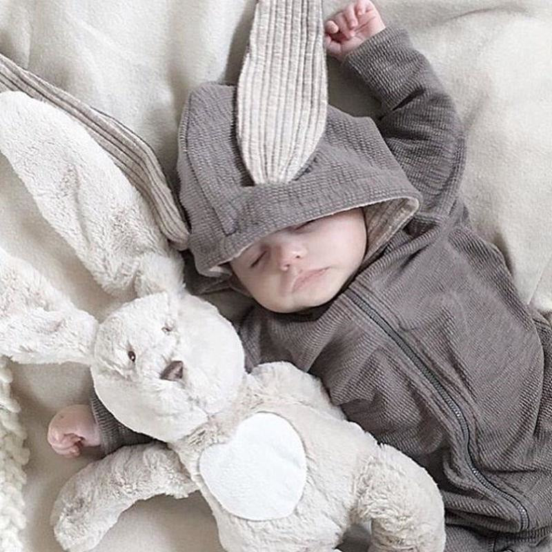 Baby Bunny Romper Onesie with Soft Floppy Ears