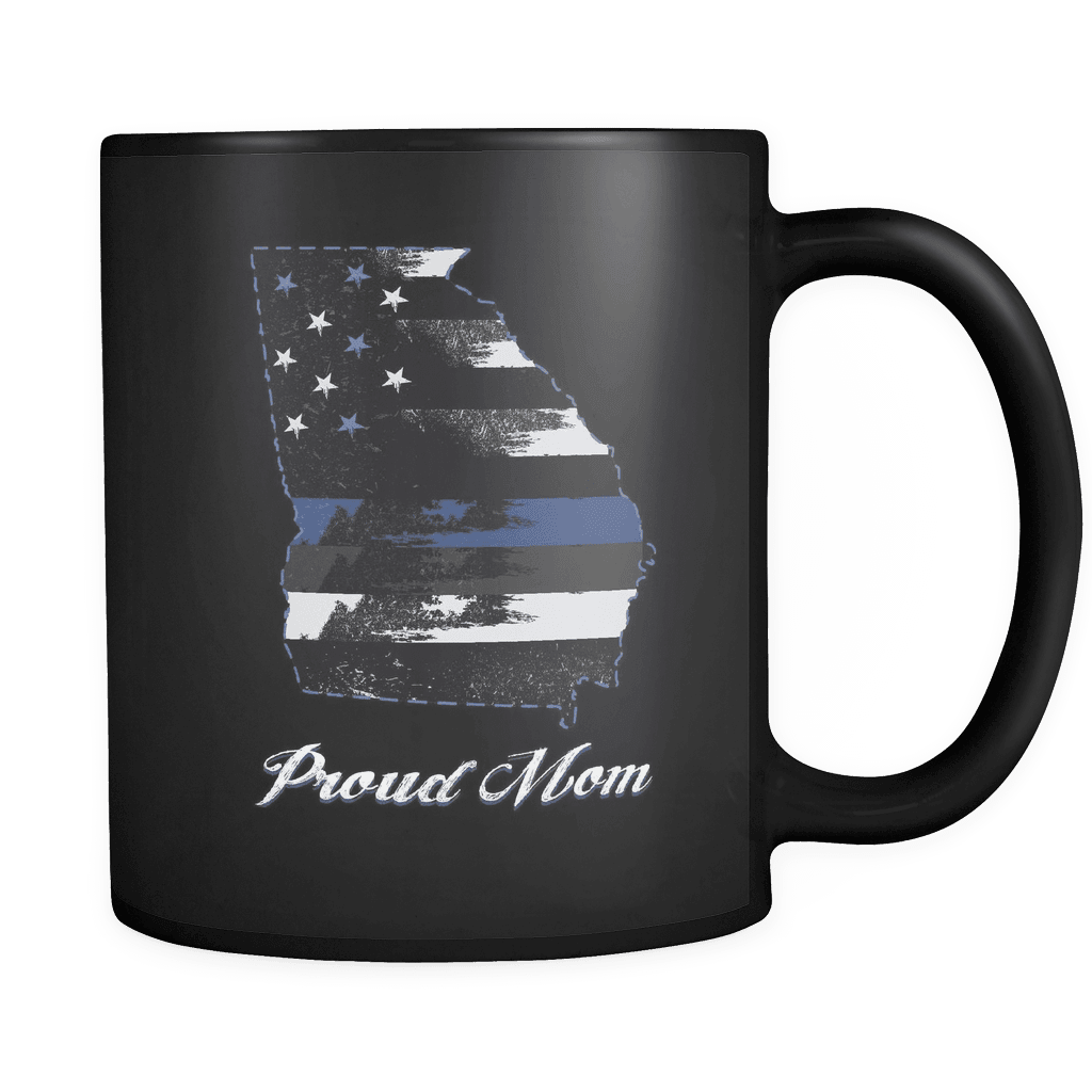 Black 11oz Mug Georgia