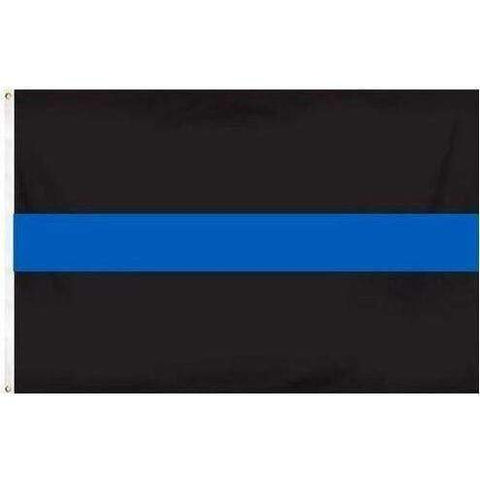 Thin Blue Line Flag with Black Background