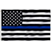 Image of Thin Blue Line US Flag Stars and Stripes