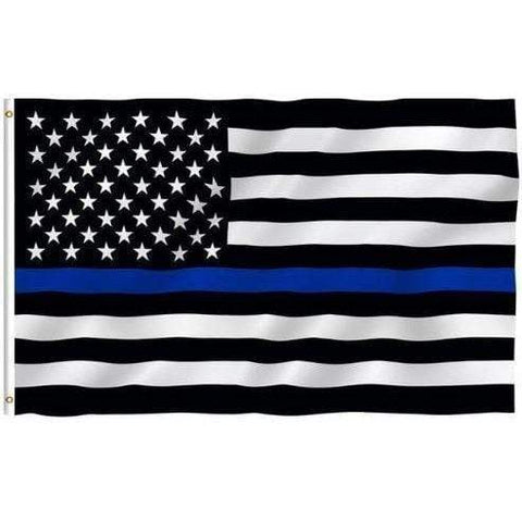Thin Blue Line US Flag Stars and Stripes