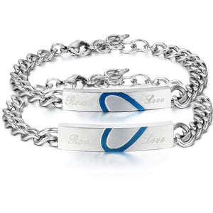 His and Hers Thin Blue Line Real Love Bracelet - Perfect Gift for Blue Line Relationships and Anniversaries