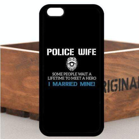 Image of My Husband is a Hero - Police Wife iPhone Case - FREE + SHIPPING!
