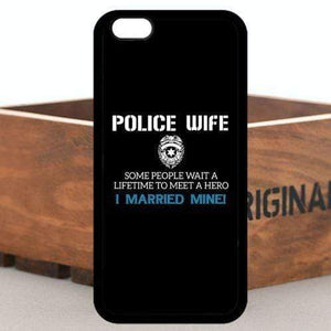 My Husband is a Hero - Police Wife iPhone Case