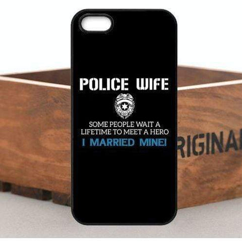 Image of My Husband is a Hero - Police Wife iPhone Case