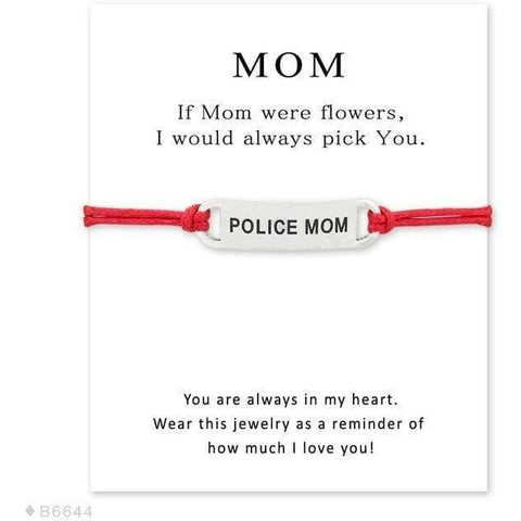 Police Mom and Wife Charm Bracelets
