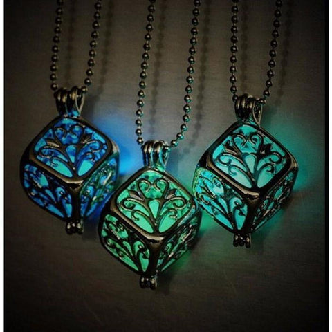 Steampunk Glow In The Dark Pendant Necklace