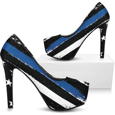 Custom Designed & Exclusive - Kick-Up Your Heels - Blue Line Style!