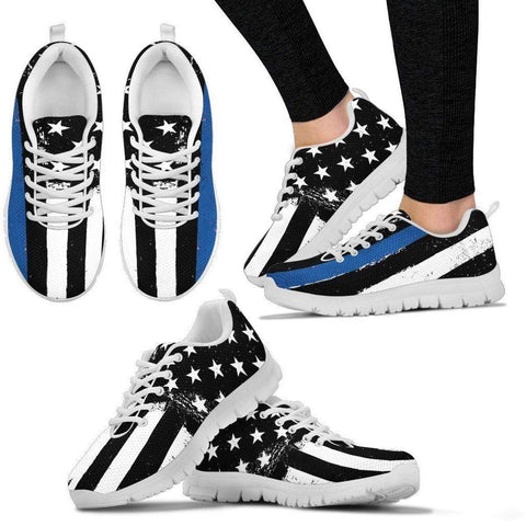 Comfortable Support Thin Blue Line On the Go Sneakers - Womens