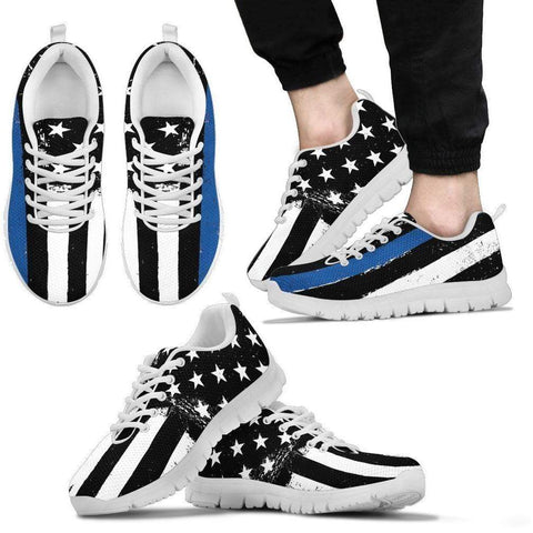 Thin Blue Line Sneakers - Mens