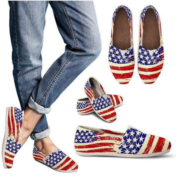 Rugged Patriot - Womens Casual Canvas Shoes