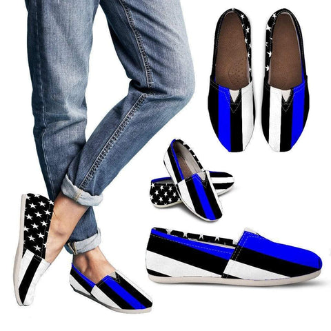 EXCLUSIVE: Thin Blue Line Casual Canvas Shoes!