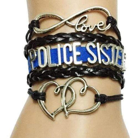 Image of Proud Police Mom Blue Line Infinity Bracelet - FREE + SHIPPING