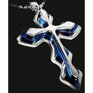 Three Layer Stainless Steel Pendant Cross Necklace Ornaments