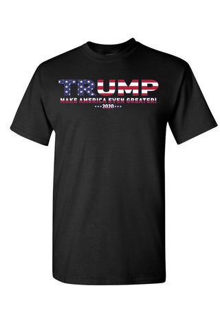 Image of Unisex Trump USA Make America Even Greater Short Sleeve Shirt