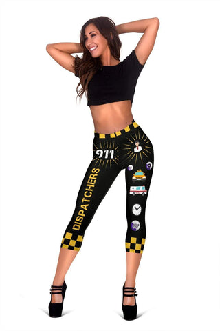 Dispatcher Capris Leggings -  Black