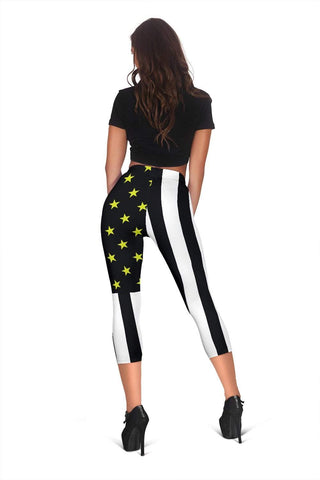 Dispatcher Capris Leggings -  Black & White