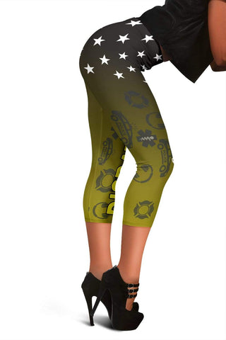 Dispatcher Capris Leggings -  Lemon Ginger