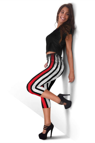 Image of EMT Capris Leggings - Fire Engine Red