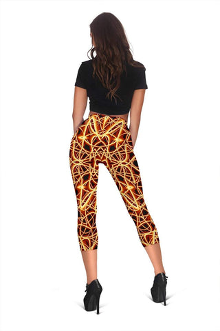 Firefighter Capris Leggings - Fire Brick