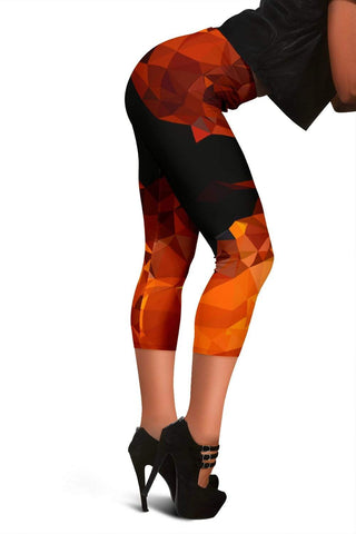 Firefighter Capris Leggings - Harley Davidson Orange