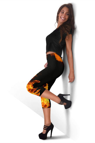 Firefighter Capris Leggings - Peru Tan