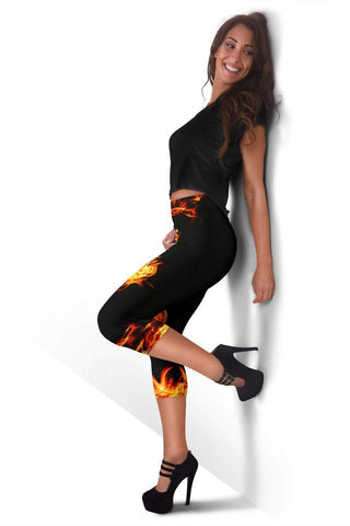 Firefighter Capris Leggings - Tangerine