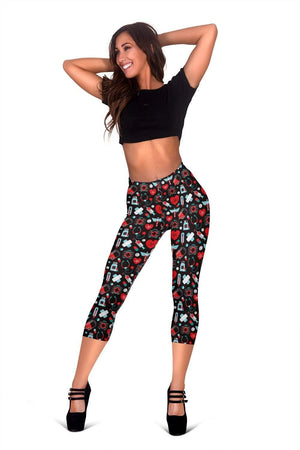 Nurse Capris Leggings - Alizarin