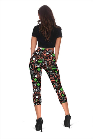 Image of Nurse Capris Leggings - Apple