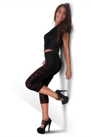 Nurse Capris Leggings - Blacks