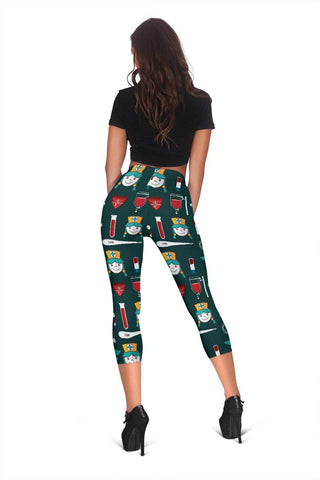 Image of Nurse Capris Leggings - Nordic