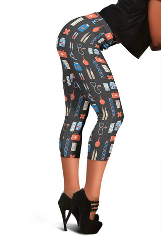 Nurse Capris Leggings - Payne's Grey
