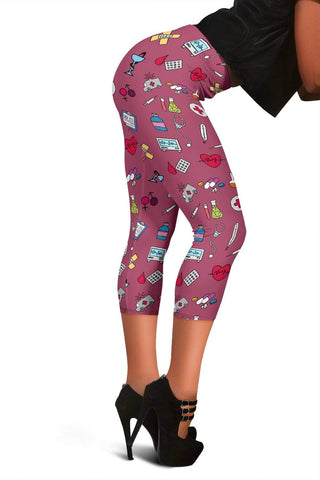 Nurse Capris Leggings - Royal Heath