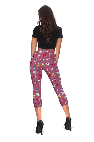 Image of Nurse Capris Leggings - Royal Heath