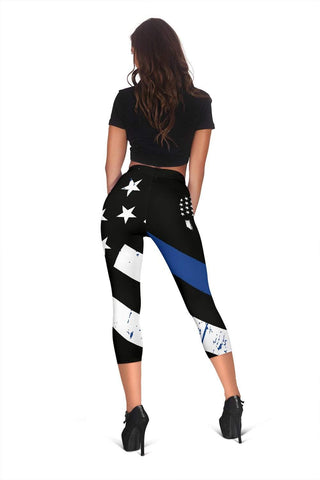 Image of Police Capris Leggings - Endeavour