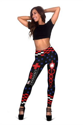 EMT Full Length Leggings - Alizarin