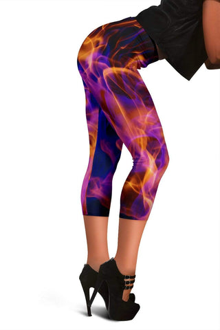 Firefighter Capris Leggings - Burnt Umber