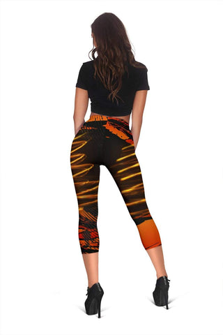 Firefighter Capris Leggings - Tenne (Tawny)