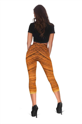 Firefighter Capris Leggings - Whiskey Sour
