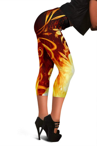 Firefighter Capris Leggings - Witch Haze