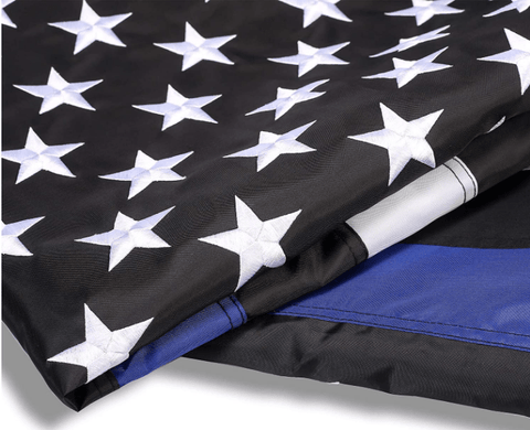Thin Blue Line Flag - High Quality Embroidered