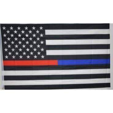 $5 FLASH SALE - Blue Line - Red Line Brotherhood Flag