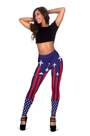 Image of Air Force Full Length Leggings - Paris M